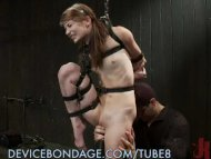 Petite sub gets bound up ...