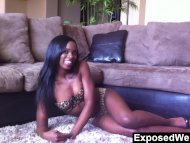 Ebony Goddess Does A Hot ...