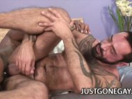 Muscle Black Dude Fucks A...