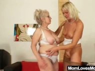 Well-endowed grandma pene...