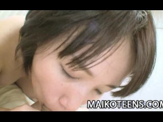 Japanese teen Natsuko Osanai getting ready for hard sex