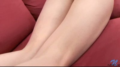 Busty blonde Nubile darling Yanna fingers pink pussy