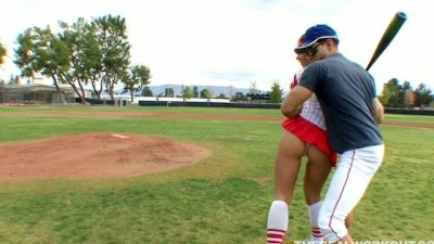 Kylee Strutt practiced on her baseball coach instead