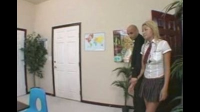 Sexy schoolgirl is soaking wet and waiting for her teacher to teach her ass a lesson