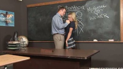 busty blonde teen getting her pussy fucked hard by the school admin