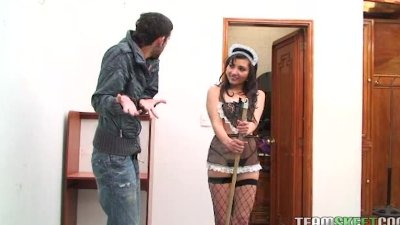 hot latina maid Kelen Arias getting fucked hard