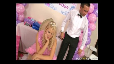Sexy blonde Teen is not pleased with her presents as she wants a big cock for her sweet 18