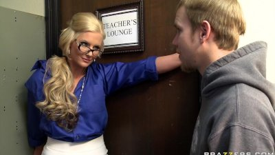 Big tit blonde teacher fucks h