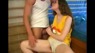 Adorable cute Innocent Spanish Teen Bathroom sex With Older man