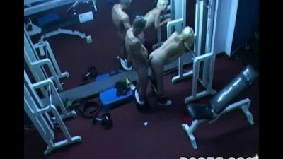 Horny folks fucking at the gym