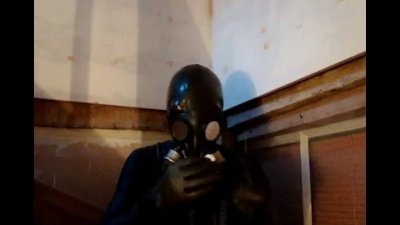 The utimate orgasm poppers in a gasmask
