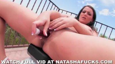 Natasha's First Solo Anal