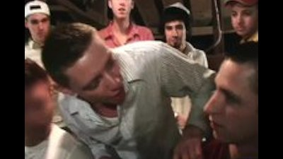 Guys get gay hazed by drunk crowd part1