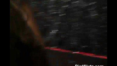 Drunken Bimbos Suck Off Stripper On Stage In Front Of Crowd