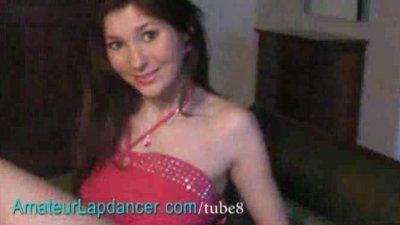 Czech amateur teen Lucy strip and lapdance