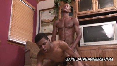 Two hot ebony studs having some gay love