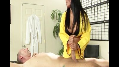 Big tit Asian massage freak