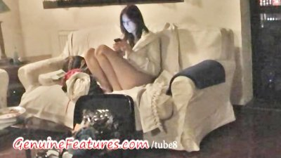 Girls at the party with hot oil massage
