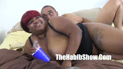 Balloon titty black girl gets her pussy banged by monster dick