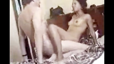 Rough amateur sex with ebony GF