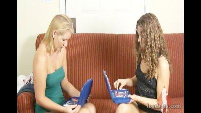 Ashley and Amber Play Battleship
