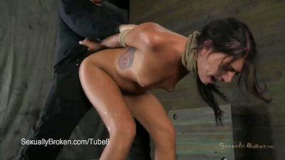 Teen Brunette Cassandra Nix is Fucked Senseless in BDSM
