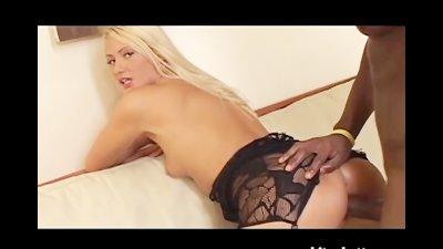 Blonde MILF Gets Her Ass Filled With Black Cum
