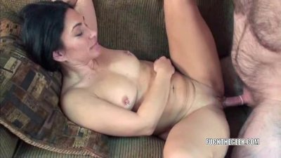 Petite cougar Cleo getting fucked
