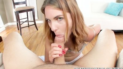 Teen Jonni Hennessy chokes on a big oral cum load