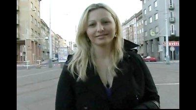CZECH STREETS Ilona takes cash for public sex