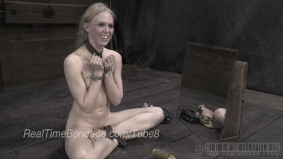 Blonde Ballerina Caned in Bondage