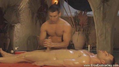 Gay Genital Oil Massage
