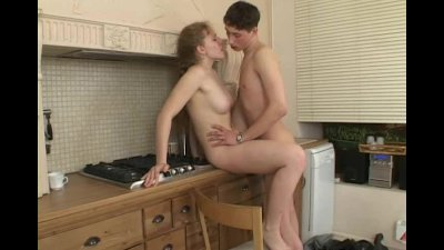 Smoking hot kitchen fucking