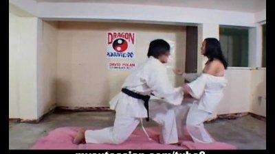 Filipina slut fucked hard after karate