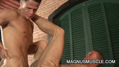 Alex Victor and Marcos Cabo - A Wild Outdoor Military Anal Sex