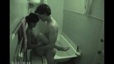 Sensual bathtime for teens