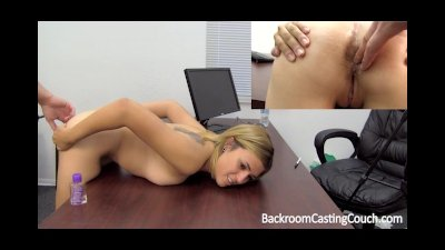 Assfucked Creampie Girl Next Door on Casting Couch