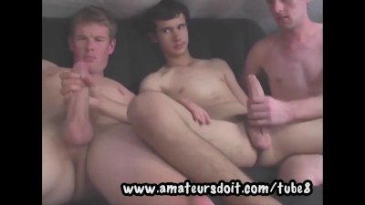 Smooth and Lanky Twinks Enjoy a 3way of Gay Sexual Exploration