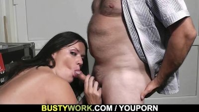 BBW slut rides his dick
