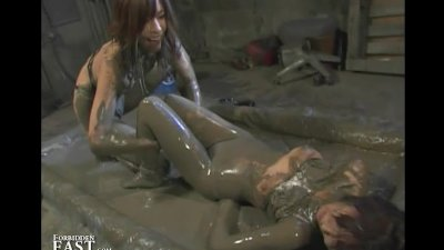 Japanese FemDom Mud Wrestling - Strange But True!
