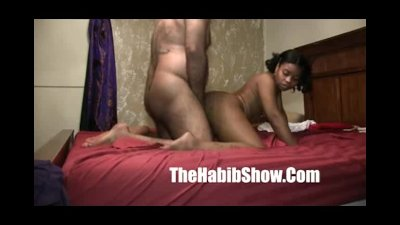 Nasty arab man fucks dirty ghetto thick booty ho