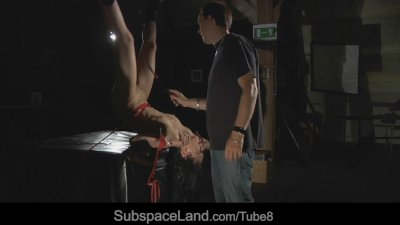 Miho is serious tormented in bondage-croatch ropes