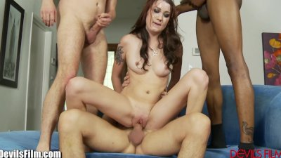 DevilsFilm Slutty College Girl Gangbanged