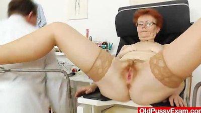 Madam gyno in addition to a redhead bitch