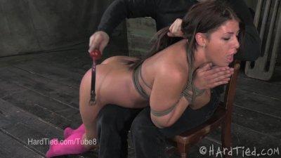 Mia Gold Gets Spanked in Bondage