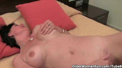 Hairy and busty housewife Julie collection