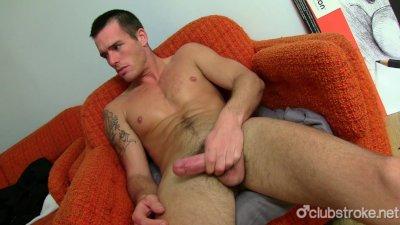Sexy Straight Guy Jake Masturbating