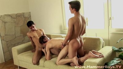Threesome Ricco Luna,Paolo Sciera and Simon Dale from Hammerboys TV