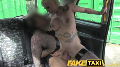 FakeTaxi Spanish Blonde with huge tits
