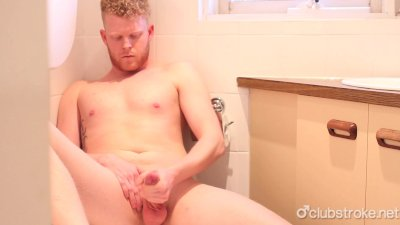 Redhead Straight Guy Cooper Masturbating